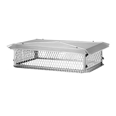 Shelter Stainless Steel Multi-Flue Chimney Cap; 8''