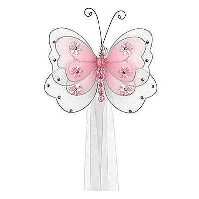 The Butterfly Grove Sasha Butterfly Curtain Tieback; Pink Carnation WYF078277907764