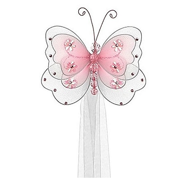 The Butterfly Grove Sasha Butterfly Curtain Tieback; Pink Carnation
