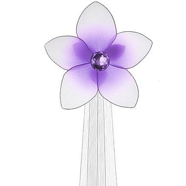 The Butterfly Grove Makena Flower Curtain Tieback; Purple Wisteria
