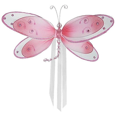 The Butterfly Grove Avery Dragonfly Curtain Tieback; Pink Carnation