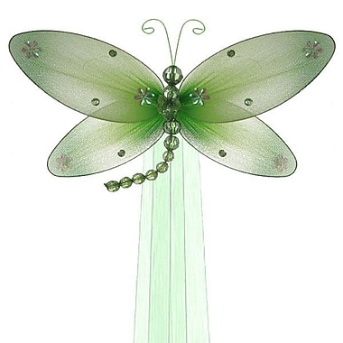 The Butterfly Grove Taylor Dragonfly Curtain Tieback; Green Honeydew