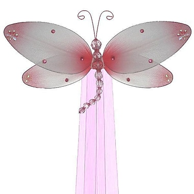 The Butterfly Grove Taylor Dragonfly Curtain Tieback; Pink Carnation