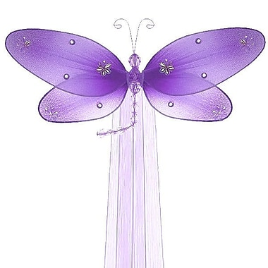 The Butterfly Grove Taylor Dragonfly Curtain Tieback; Purple Wisteria
