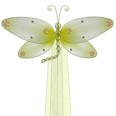 The Butterfly Grove Taylor Dragonfly Curtain Tieback; Yellow Daffodil