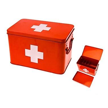 Present Time Cross Metal Medicine Storage Box