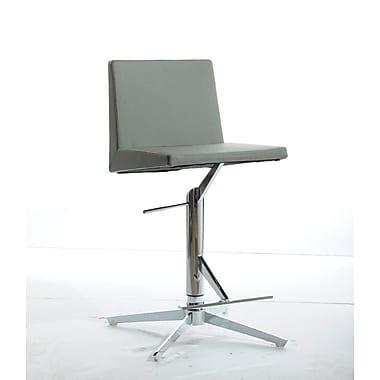 VIG Furniture Adjustable Height Swivel Bar Stool; Grey