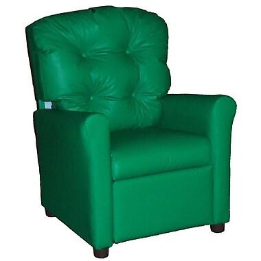 Brazil Furniture Children's Recliner; Vinyl Green
