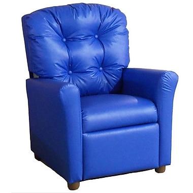 Brazil Furniture Children's Recliner; Vinyl Blue