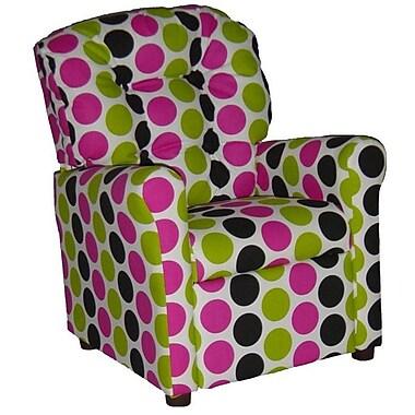 Brazil Furniture Children's Recliner; Fancy Pink / Black