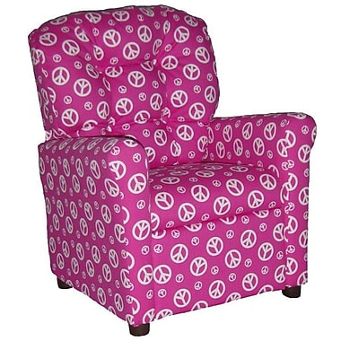 Brazil Furniture Children's Recliner; Peace Pink