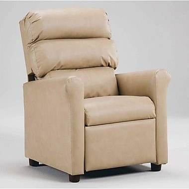 Brazil Furniture Children's Recliner; Vinyl Taupe