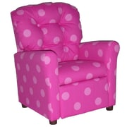 Brazil Furniture Children's Recliner; Oxygen Pink