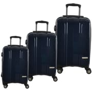 McBrine 100% Polycarbonate Exterior 3-Piece Hard Sided Luggage Sets on Double Swivel Wheels with TSA Lock