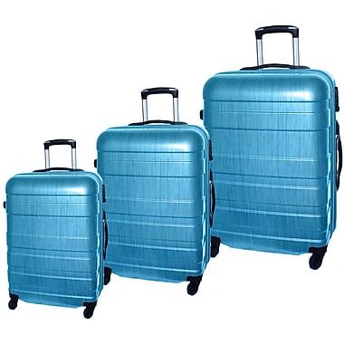McBrine - Ensemble de valises légeres écologiques à coque dure ABS avec film PC, 3 mcx, roulettes pivotantes, vert clair deux to