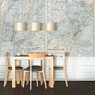 Swag Paper Boston Wall Mural; 89.64'' H x 132'' W