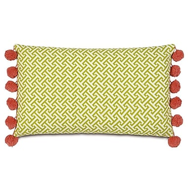 Hen Feathers Epic Splash Chive Sparrow Boxed Lumbar Pillow