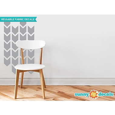 Sunny Decals Chevron Arrows Fabric Wall Decal (Set of 26); Grey