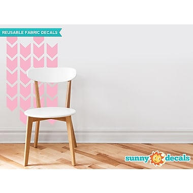Sunny Decals Chevron Arrows Fabric Wall Decal (Set of 26); Pink