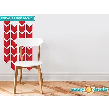 Sunny Decals Chevron Arrows Fabric Wall Decal (Set of 26); Red