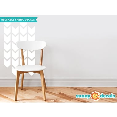 Sunny Decals Chevron Arrows Fabric Wall Decal (Set of 26); White
