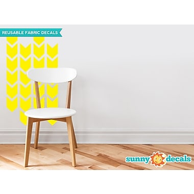 Sunny Decals Chevron Arrows Fabric Wall Decal (Set of 26); Yellow