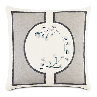 Hen Feathers Modern Asian Bonsai Down Throw Pillow
