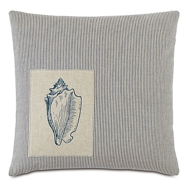 Hen Feathers Nautical Seashell Throw Pillow