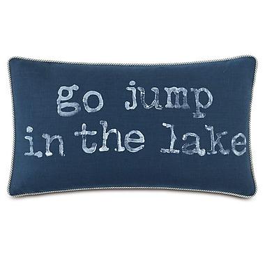 Hen Feathers Nautical Go Jump in the Lake Lumbar Pillow