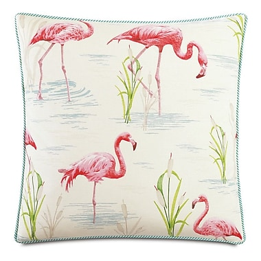 Hen Feathers Tropical Twiggy Down Throw Pillow