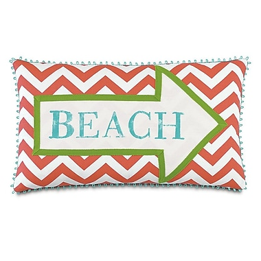 Hen Feathers Tropical Sandy Shores Down Throw Pillow