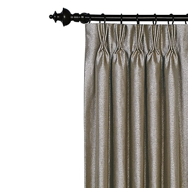 Hen Feathers Monet Solid Blackout Pinch Pleat Single Curtain Panel; 20'' W x 96'' L