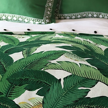 Hen Feathers Lania Palm Hand Tacked Comforter; Full