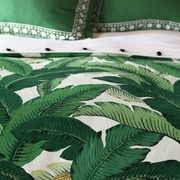 Hen Feathers Lania Palm Hand Tacked Comforter; Queen