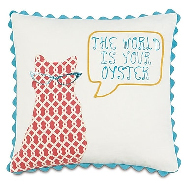 Hen Feathers Epic Splash the World Is Your Oyster Throw Pillow