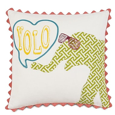 Hen Feathers Epic Splash Yolo Throw Pillow