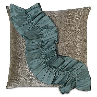 Hen Feathers Monet Dunaway Ruffle Throw Pillow