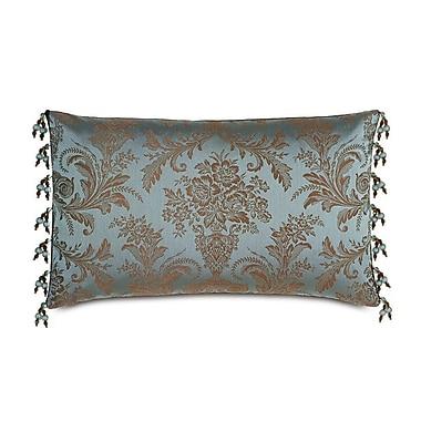Hen Feathers Monet Foscari Beaded Trim Down Throw Pillow