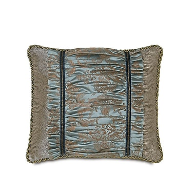 Hen Feathers Monet Foscari Ruched Down Throw Pillow
