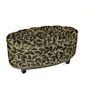 4D Concepts Ora Oval Ottoman Bench in Brown Flock