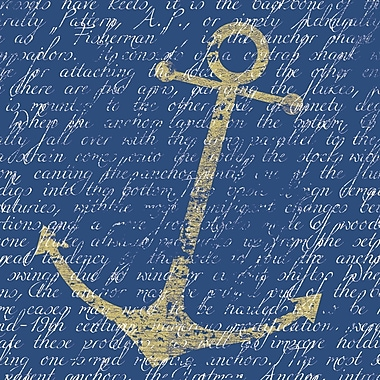 Portfolio Canvas Gold Anchor by IHD Studio Graphic Art on Wrapped Canvas