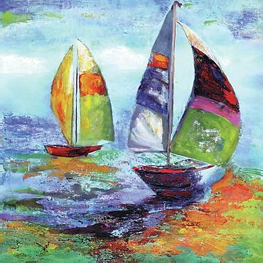 Portfolio Canvas Sailing I by Sandy Doonan Painting Print on Wrapped Canvas