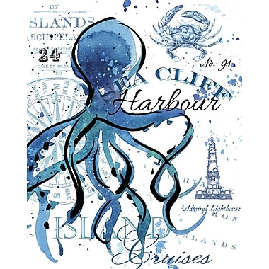 Portfolio Canvas Sea Cliff Octopus by Julie Paton Graphic Art on Wrapped Canvas