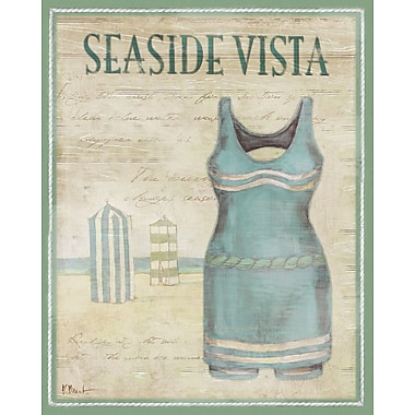 Portfolio Canvas Vintage Bathing Suits II by Paul Brent Graphic Art on Wrapped Canvas