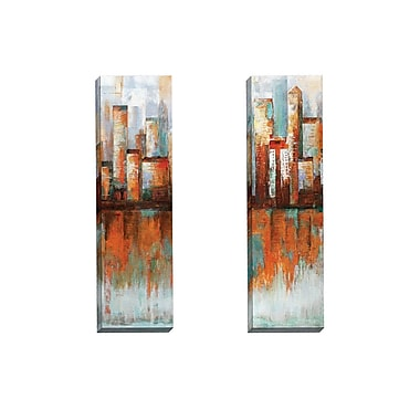 Portfolio Canvas City Limits I by Sandy Doonan 2 Piece Painting Print on Wrapped Canvas Set