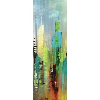 Portfolio Canvas Steel Rising Panel I by Dominick Painting Print on Wrapped Canvas