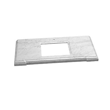 Ronbow Torino Undermount Sink Cutout 31'' Single Bathroom Vanity Top; Carrara White