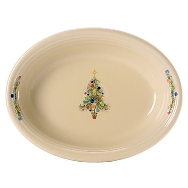 Fiesta Christmas Tree Oval Vegetable Bowl