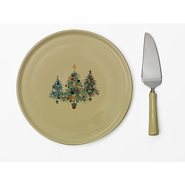 Fiesta Christmas Tree Cake Plate w/ Server