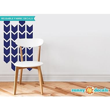 Sunny Decals Chevron Arrows Fabric Wall Decal (Set of 26); Navy